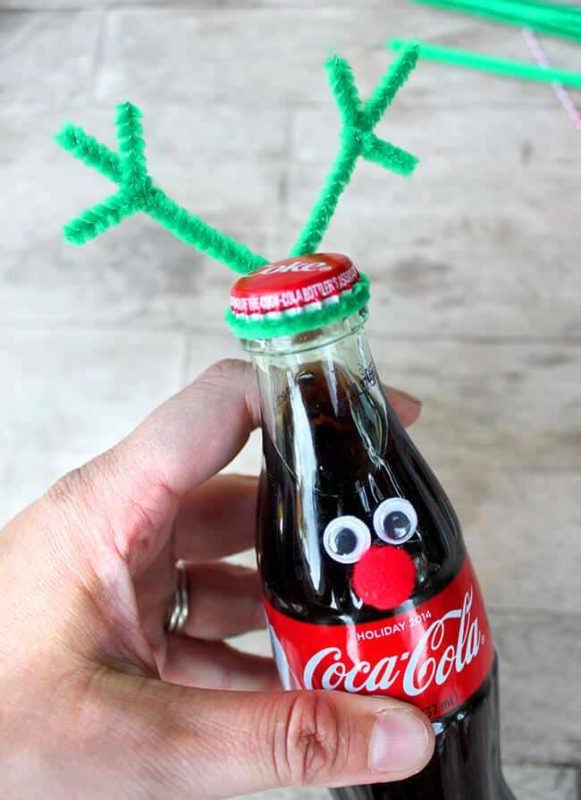 Coke Bottle Reindeer tutorial