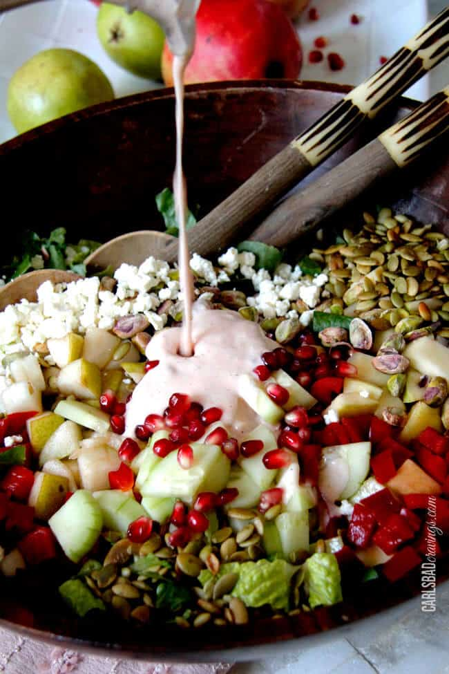 Fall Pomegranate-Pistachio-Pear-Salad-with-Creamy-Sweet-Chili-Pomegrante-Dressing