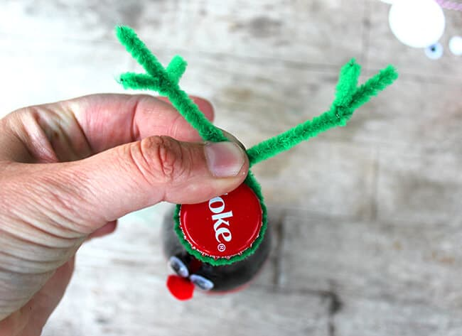 How to make a coke bottle reindeer