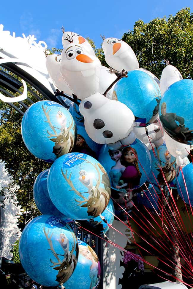 California Adventure Frozen Fun Balloons