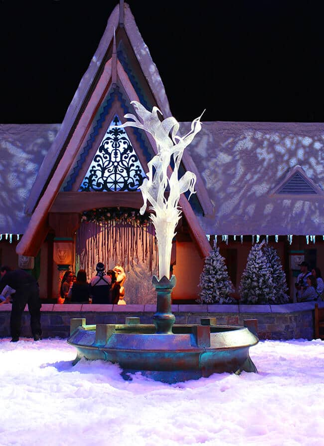 California Adventure Frozen Real Snow Area