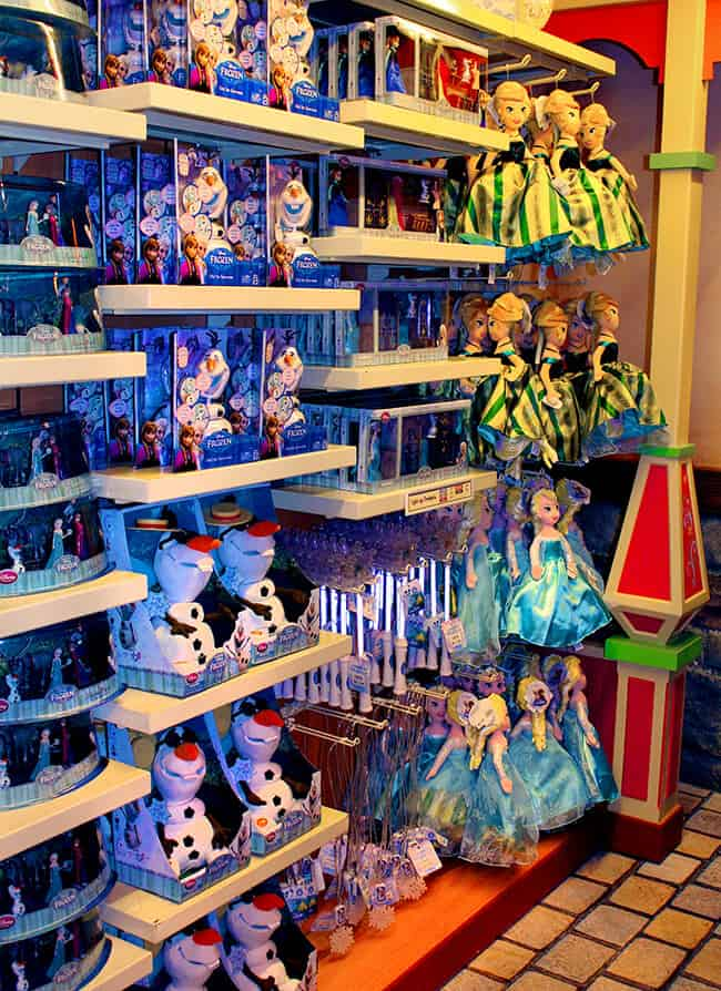California Adventure Frozen Store