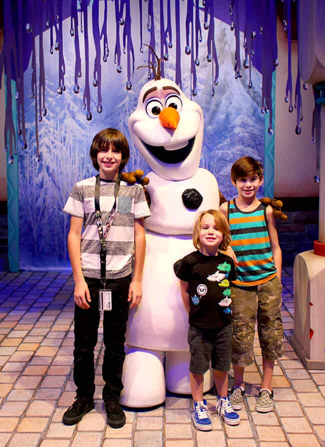 Disneyland Frozen Olaf Meet and Greet
