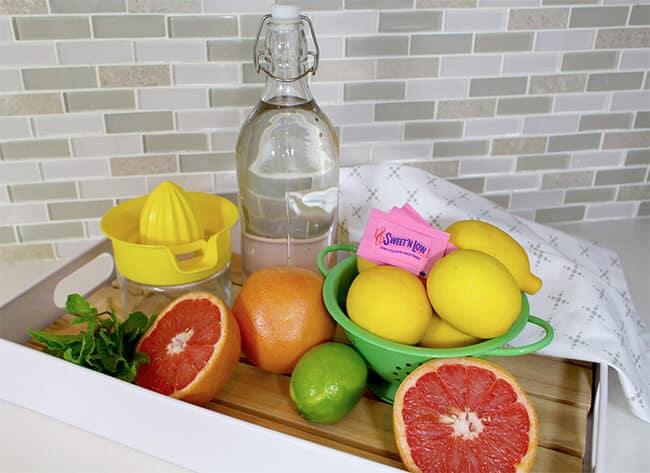 Easy Sparkling Grapefruit Mocktail