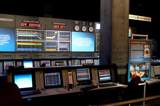Endeavor Space Shuttle control center