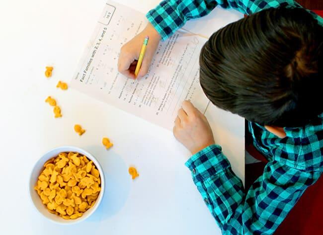 goldfish crackers homework snack