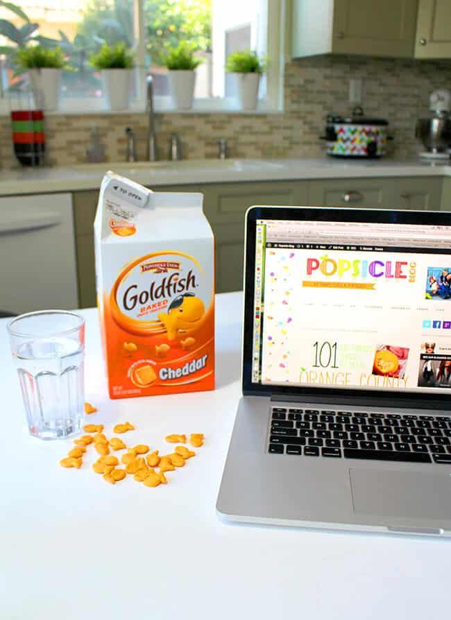 goldfish crackers mommy snack