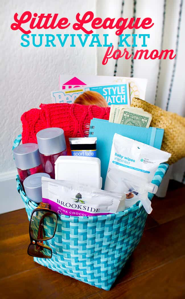 little league mom gift basket #DISCOVERBROOKSIDE