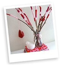 Easy Valentine Stick Craft