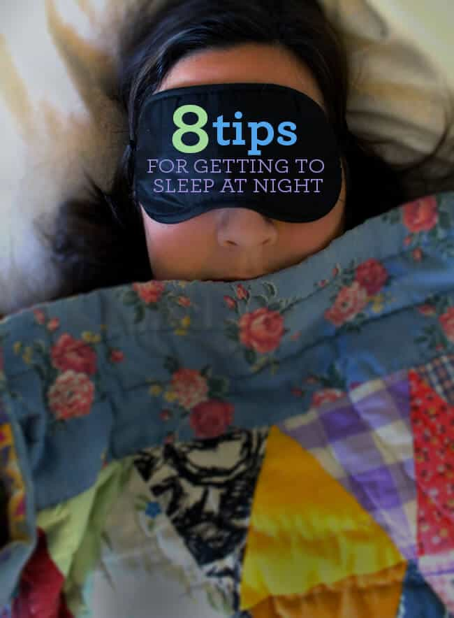 Tips on getting to sleep