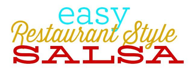 Easy Restaurant Salsa Recipe