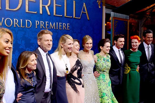 Disney Cinderella Movie Cast REd Carpet #JCPCinderellaMoment