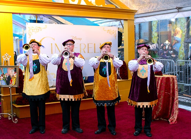 Disney Cinderella Movie Red Carpet Trumpeters #JCPCinderellaMoment