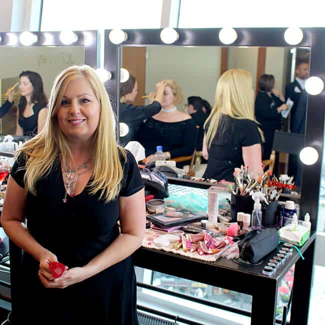 Getting Makeup Done at the Cinderella Event #JCPCinderellaMoment