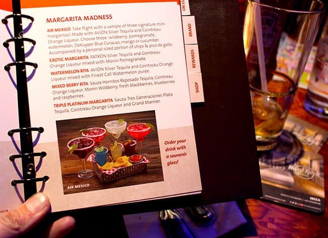 Hard Rock Cafe Drinks