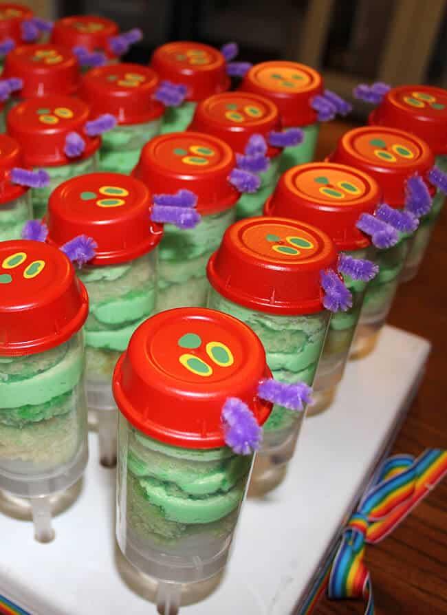 Hungry Caterpillar Push Cakes