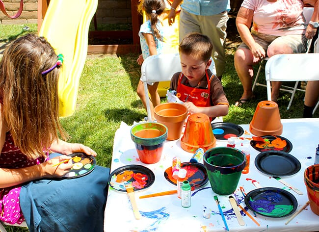 Hello spring hungry caterpillar birthday party Kids garden ideas