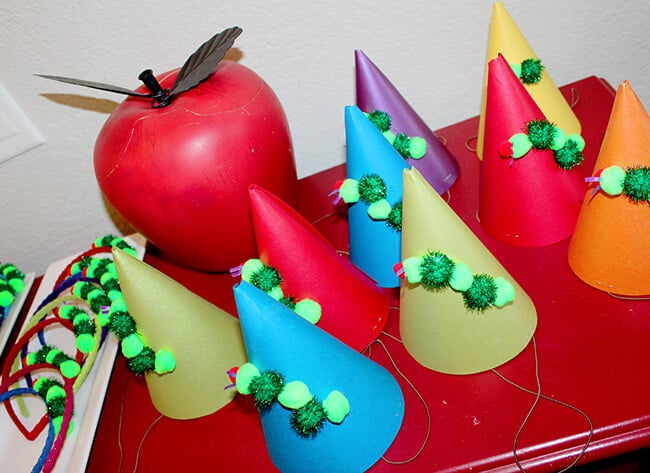 The Hungry Caterpillar Party Hats
