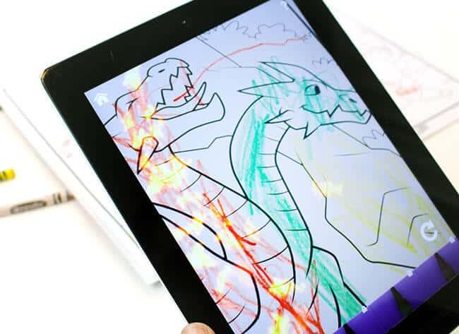 Toddler iPad Crayola Coloring Book App