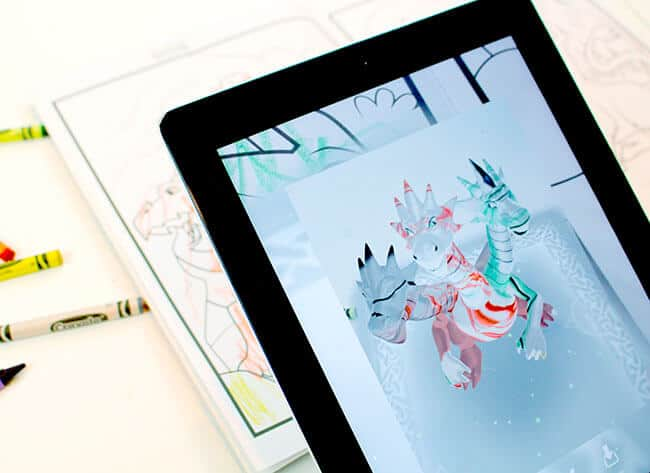 iPad Crayola Coloring Book App