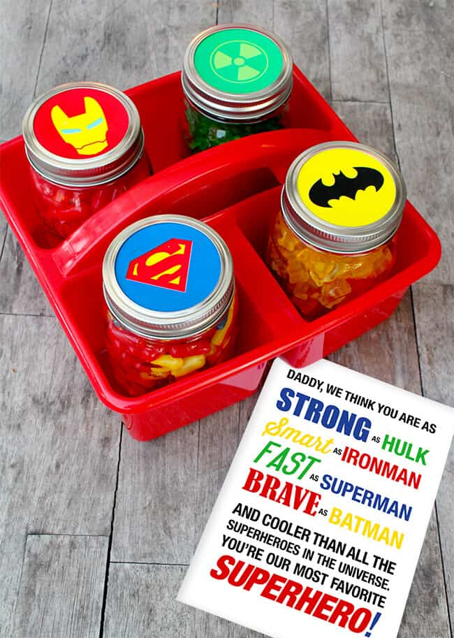 Father's Day Superhero Free Printable