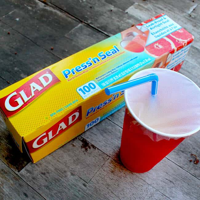 Make a Sippy Cup with Glad Press'n Seal