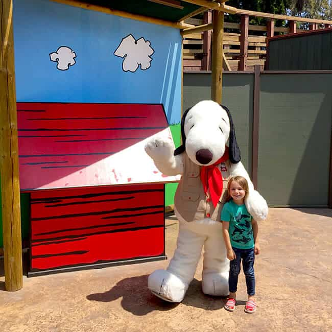 Meet Snoopy at Knott's Berry Farm