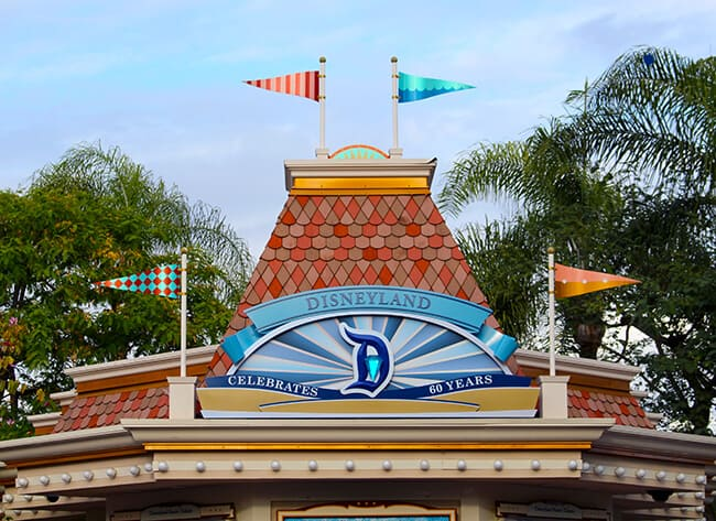 Disneyland 60th Diamond Celebration Ticket Booth
