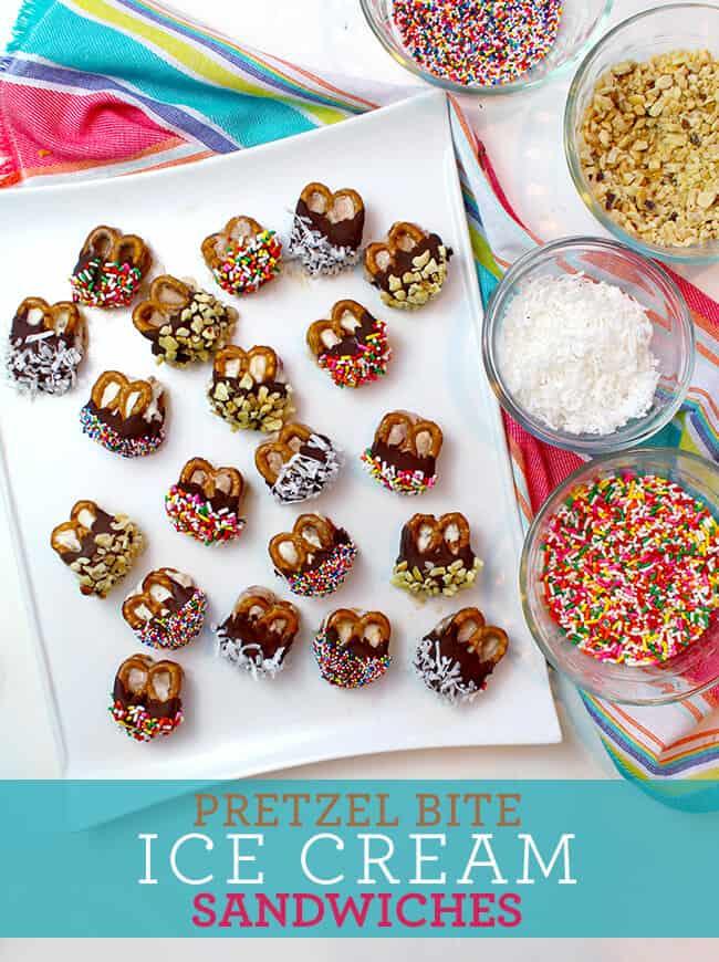 How to Make Pretzel Ice Cream Sandwiches