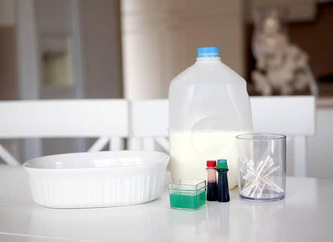 Milk Science Experiement