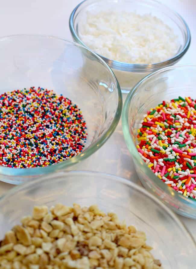 Rainbow Ice Cream Topping