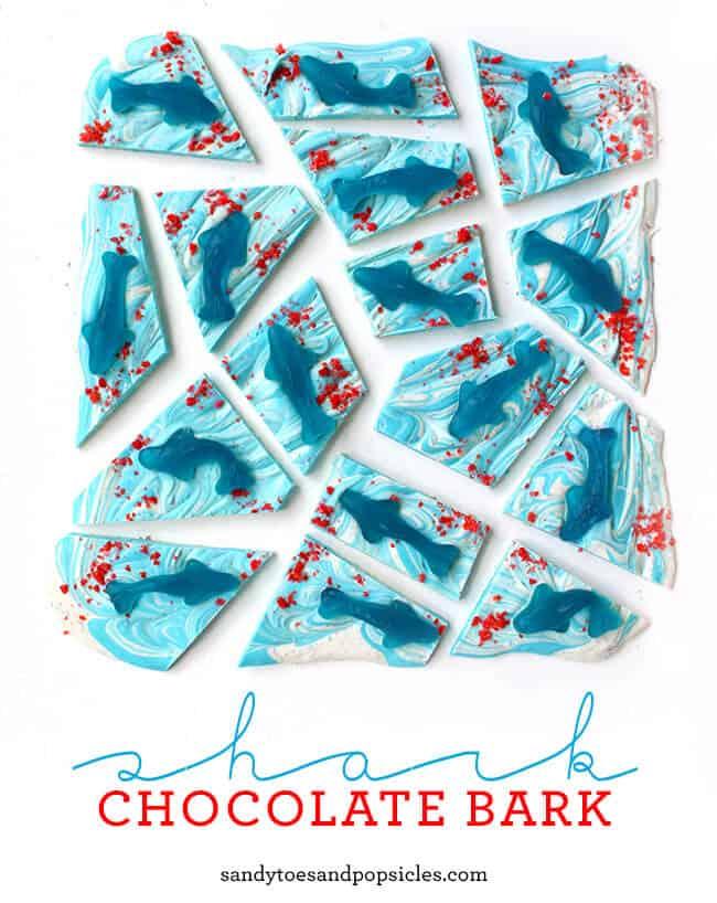 Shark Week Chocolate Bark 1