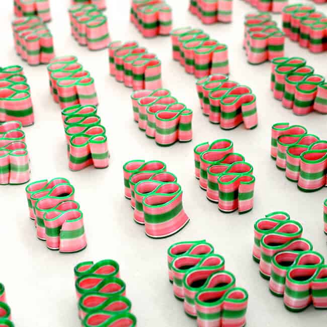 Watermelon Ribbon Candy