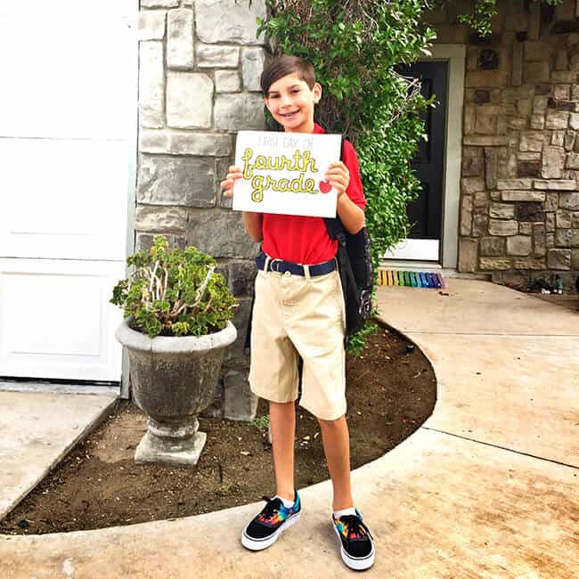 Kyle First Day of Fourth Grade