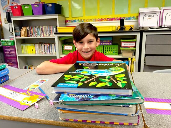 Kyle in his school class
