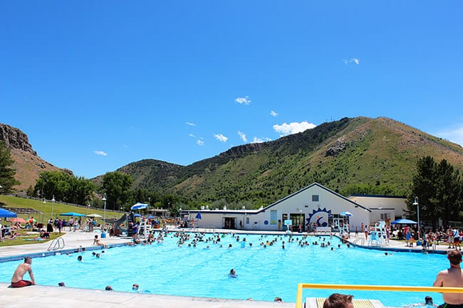 Lava Hot Springs Olympic Swimming Complex in Idaho