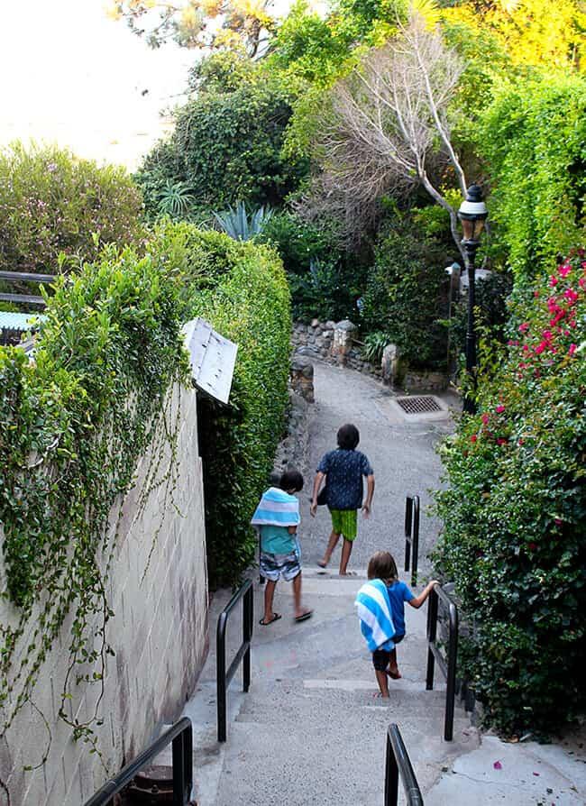 Stairs to Victoria Street Beach in Laguna