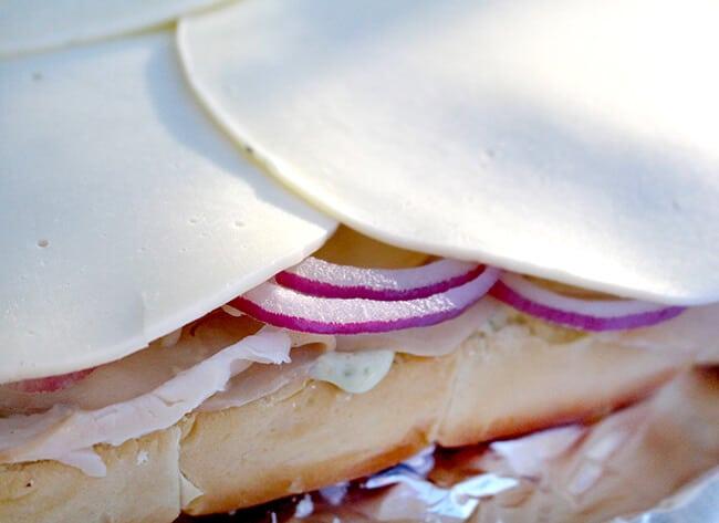 Turkey Provolone Arugula Sandwich Sliders