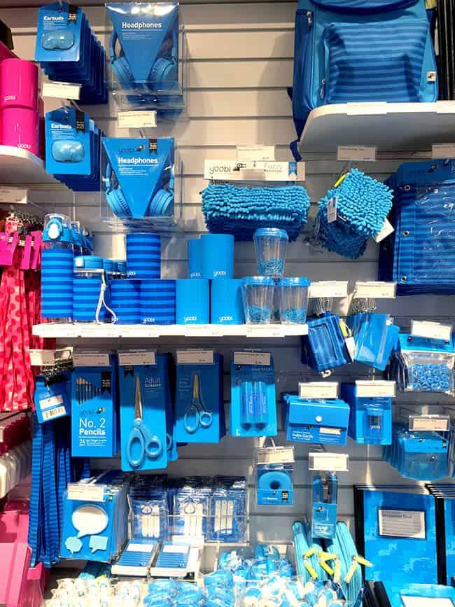 Yoobi Blue School Supplies