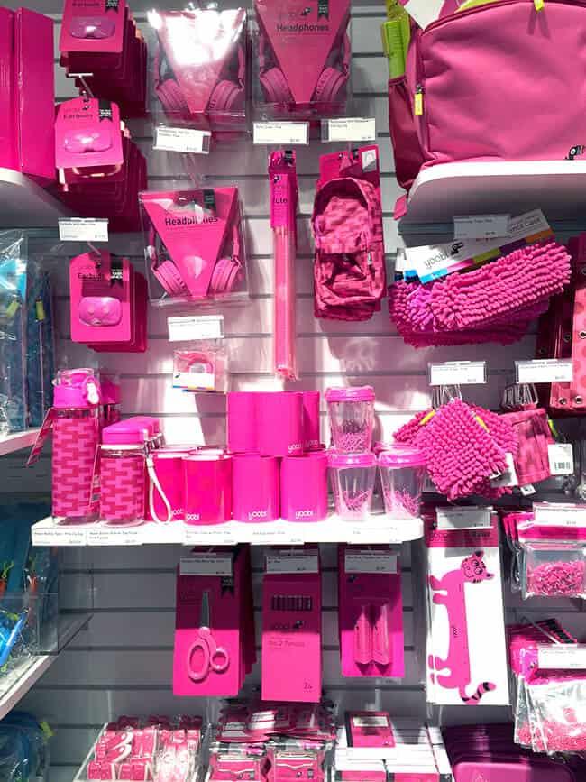 Yoobi Pink School Supplies