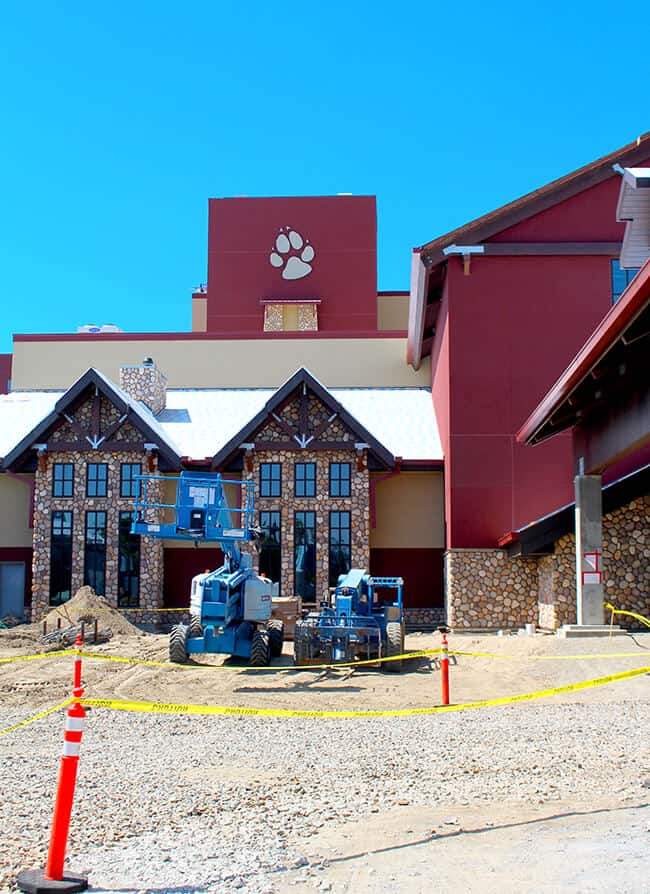 Great Wolf Lodge Outside Construction
