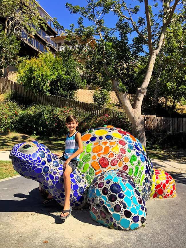 Laguna Beach Turtle Sculpture