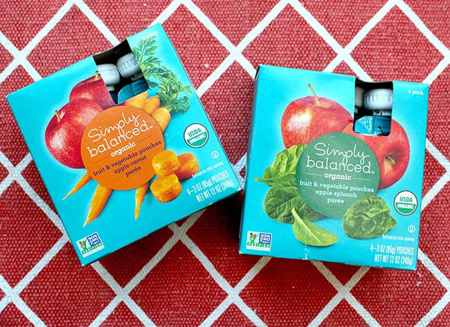 Target Organic Fruit and Vegetable Pouches