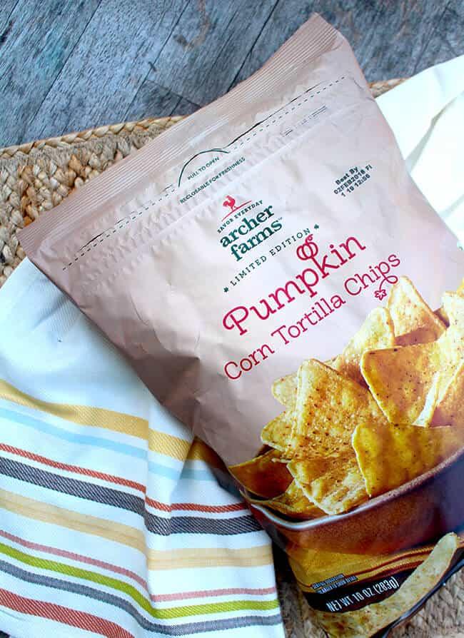 Pumpkin Corn Tortilla Chips