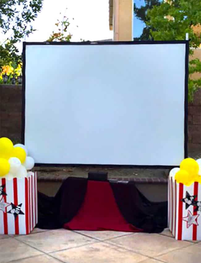 Backyard Movie Screen