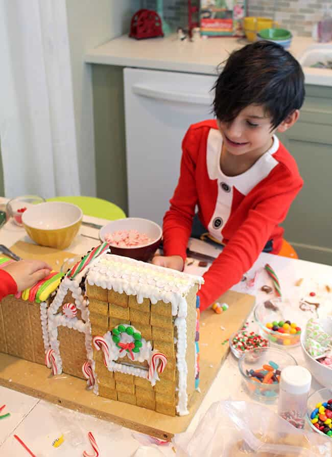 Building Gingerbread Houses with Kids