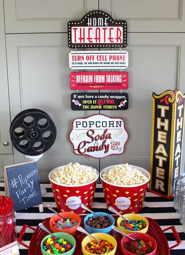 DIY Movie Party with Free Printable