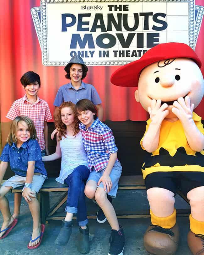 Noah Schnapp and Francesca Capaldi - Peanuts Movie