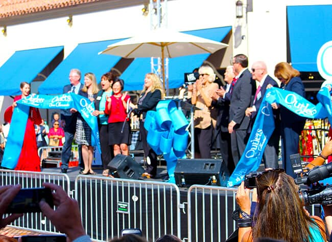 San Clemente Outlets Ribbon Cutting
