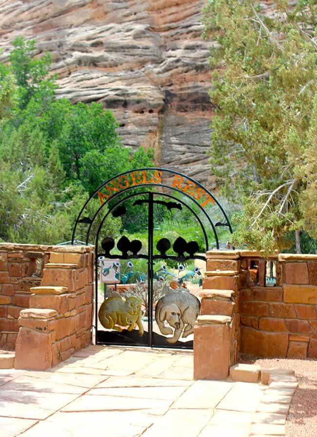 Best Friends Animal Sanctuary Cemetary Gates